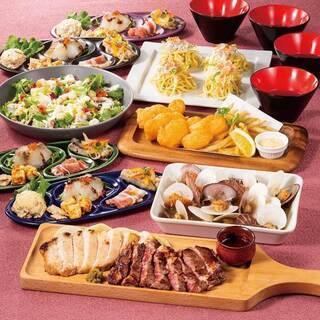 宴会コースのお料理は全て「個人盛」で提供致します。