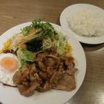 Brasserie MORI - MORI風ポークジンジャーランチ 目玉焼添え