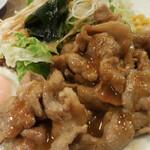 Brasserie MORI - MORI風ポークジンジャーランチ 目玉焼添え;アップ