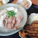 名嘉地そば - 料理写真:デブ大喜び幸せなセット