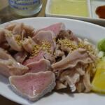 Motsuyakiucchanshinjukuomoideyokochou - 豚もつ3点刺¥700円