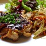 ルフティック - 鶏肉のグリル(八丁味噌味)セット (900円)