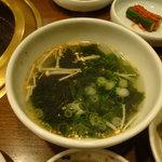 蘭 - わかめスープ