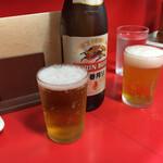 中華料理ぶたかつ - ドリンク写真:瓶ビールで一杯