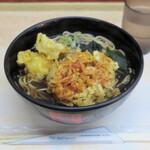 箱根そば - 桜えびのミニかき揚げ天とむつ湾産ほたて天520円