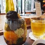 眞野屋 - 料理写真:抹茶パフェ、どーん!