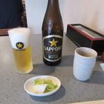 うさぎ庵 - 瓶ビール・お通し