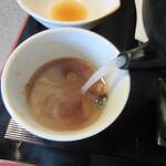 うさぎ庵 - 蕎麦湯は白濁