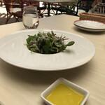 TRATTORIA AL POMPIERE - 前菜のサラダ