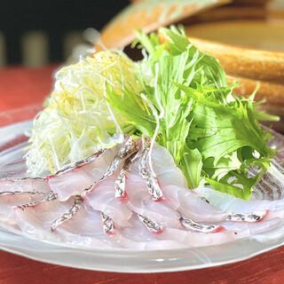 名物■黄金スープの鯛しゃぶ