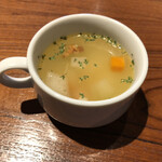 Taimupisukafe - ランチのスープ