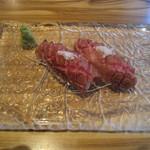Bacci - 松坂牛イチボ炙り寿司 塩