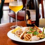 ヒラクヤ オステリア - 鶏ムネ肉と野菜のグリル