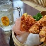 炭火居酒屋 炎 - 料理写真:角ハイボールと塩ザンギ