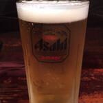 小菊 - 生ビール(中)