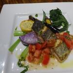 132053929 - 目鯛のグリル フレッシュトマトのソース