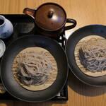 会津山都そば つつみ庵 - 料理写真:ざる蕎麦+おかわり