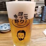 ニューヨック中野 - キンキンに冷えた生ビール