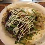 広島お好み焼 ひらの - 最後はマヨで味変