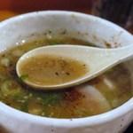 麺の坊 五月晴れ - スープはこんな感じ♪