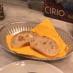 132083087 - ランチコースに付くパン。