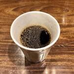 わだ家 - 食後のコーヒー ホットかアイスから選べます