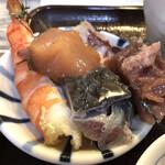 江戸富士 - たっぷりの具を別皿に移していただきます