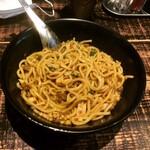 麺や 結 - Curryまぜそば(混ぜ混ぜ後)