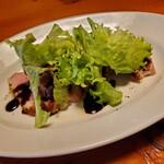 Herb Diner & Bar ジャックポット - ローストビーフのサラダ仕立て、バルサミコ酢が良いですね