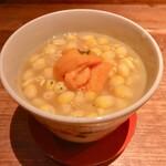 132106195 - 雲丹ととうもろこしの茶碗蒸し