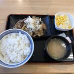 吉野家 - ねぎ塩牛カルビ定食(598円)