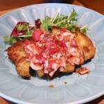 蔵ら - 料理写真:豚ロースのにんにくパン粉焼きプレート
