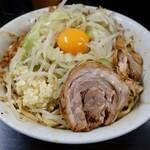 ラーメン二郎 - 料理写真:小ラーメン(750円)+汁なし(80円)