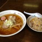 あじくら - 料理写真:ラーメン+半チャーハンセット(650円)