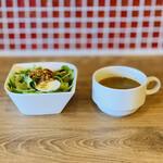 肉バル ガブット - サラダ+スープ