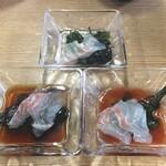 132130911 - 鯛のうすづくり(3皿)(900円)