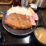 キセキ食堂 - 上キセキステーキ定食(ライスなし)