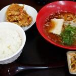 みんみん - からあげ定食(ライス大) @870
