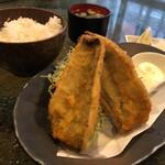 翠風 - 自家製アジフライ定食