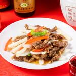 中華居酒屋 香香 - 牛肉の黒胡椒炒め
