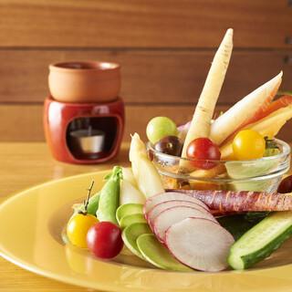 【バーニャカウダ食放題770円】国産有機野菜&活き〆鮮魚使用