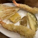 Ikementomikura - 海老と季節の野菜天ぷら