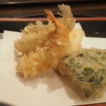 天ぷら つな八 - 天ぷら第一弾