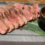 132157897 - 熊本産健康和牛(あか牛)のステーキ