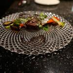 レクラン ド デリス - ヒレステーキとグリル野菜添え トリュフのお塩で