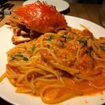 オステリアチードゥエ - リングイネ 渡り蟹のクリームソース