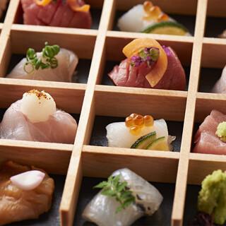 能登直送の鮮魚の美味しいところを少しずつ。