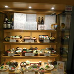 天濱 - 店頭にある料理見本