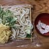 さわだ - 料理写真:【2020.6.11】もりうどん(大盛り)500円+肉汁50円+天ぷら玉ねぎ70円、春菊70円