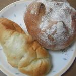 ぱんと洋菓子 オリムピックパン - 全粒粉フランスとかぼちゃクリーム白玉